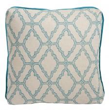 lacefield kai capri pillow with plasma linen flange and turkish corners