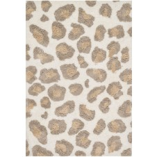 kiara shag collection ivory & taupe rug