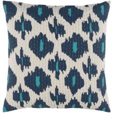 surya kantha navy & wheat pillow