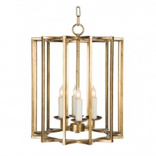 aidan gray chan geo chandelier, look #2, small, gold