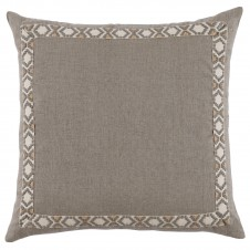lacefield natural linen pillow with grey on off white camden tape