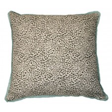 lacefield cub fossil pillow with aqua flange