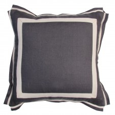 lacefield grey linen pillow with natural twill tape