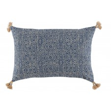 lacefield priya indian blue pillow with tassels