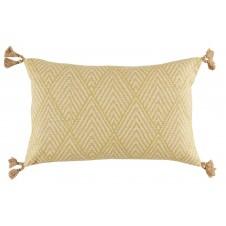 lacefield tahitian stitch lemongrass lumbar pillow with tassels