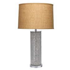 jamie young large lattice glass table lamp w/ large drum shade