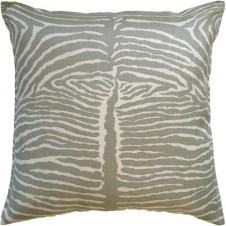 le zebre pewter pillow