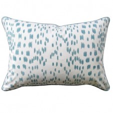 les touches aqua bolster pillow
