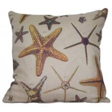 linen starfish pillow