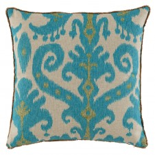 lacefield marrakesh lagoon pillow with eyelash trim