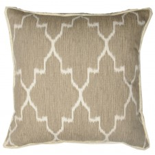 lacefield monaco linen pillow with white eyelash trim