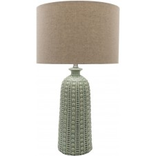 surya newell dark sea green table lamp