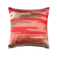 coral aztec camouflage pillow