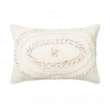 ivory applicade pillow