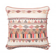 multi embroidery pillow