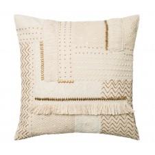 beige beads applicade pillow