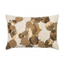 sequins & beads applicade pillow