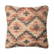 dhurri style red & beige diamond pillow