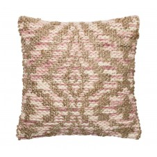 dhurri style lilac & beige woven pillow