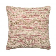 dhurri style lilac & beige chevron pillow