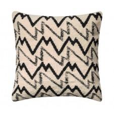 black & ivory peaks pillow