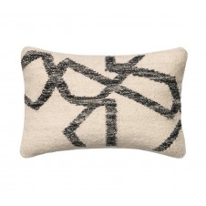 black & ivory rian pillow