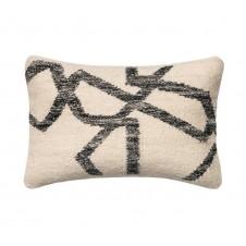 black & ivory rian pillow