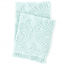 pine cone hill paisley lace aquamarine throw blanket