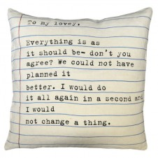 to my lovey pillow