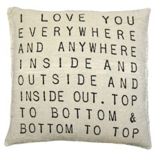 love you everywhere pillow