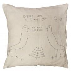 everyday i love you 2 birds pillow
