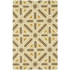 palm springs collection taupe & gold polypropylene rug