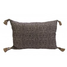 lacefield priya currant pillow with tassels