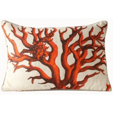 red coral pillow