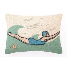 retro dive girl hook pillow