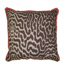 lacefield safari cocoa pillow with spice linen flange