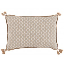lacefield sahara chalk lumbar pillow with tassels and burlap pipe