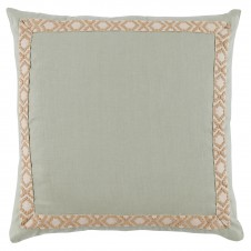 lacefield seafoam linen pillow with tan white camden tape