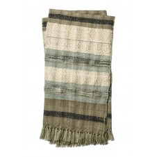 iris collection grey & ivroy throw blanket