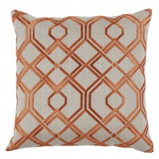 lacefield tangerine trelliage embroidery pillow