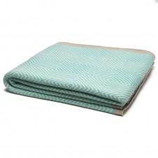 eco woven square throw blanket seafoam