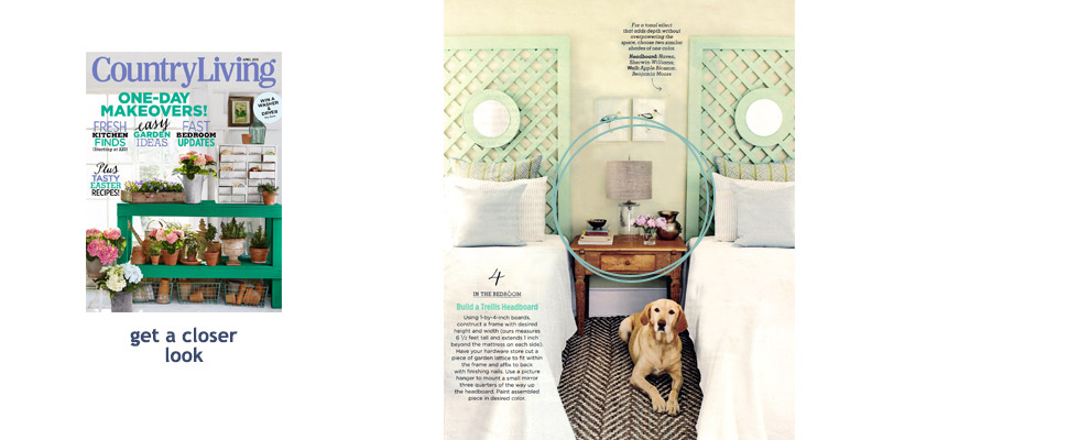 Spotted in Country Living, April, 2015