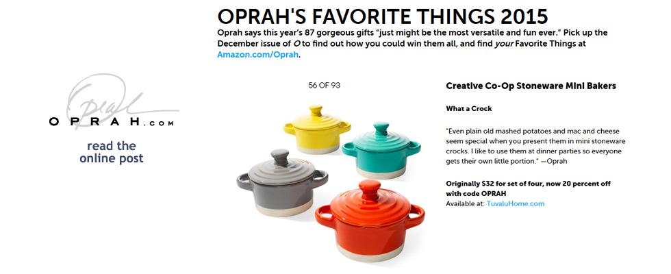 Tuvalu as seen in Oprah's Favorite Things, Oprah Online December 5, 2015